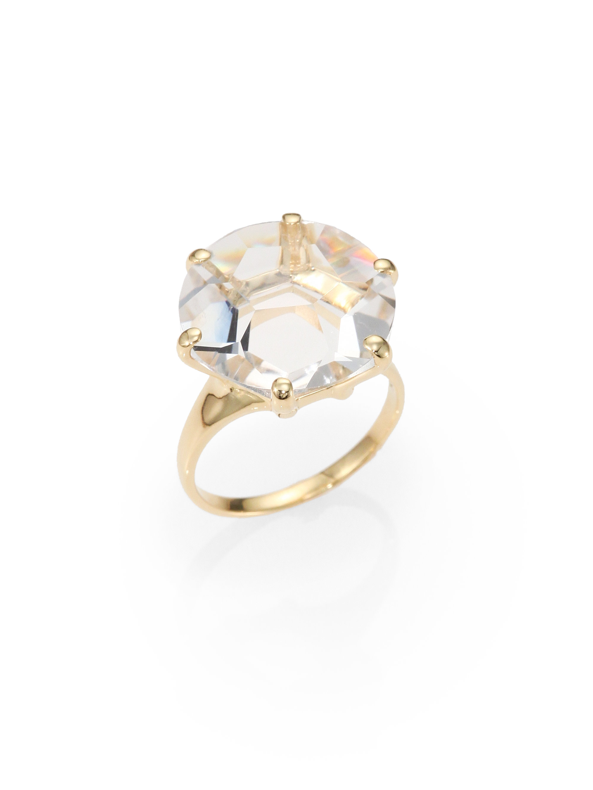 Ippolita Gemma Collection Clear Quartz And 18k Yellow Gold