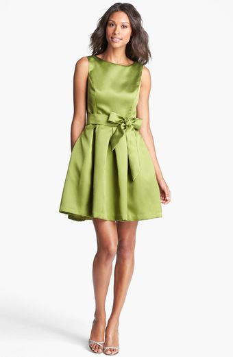 Isaac Mizrahi New York Mikado Fit Flare Dress - Lyst