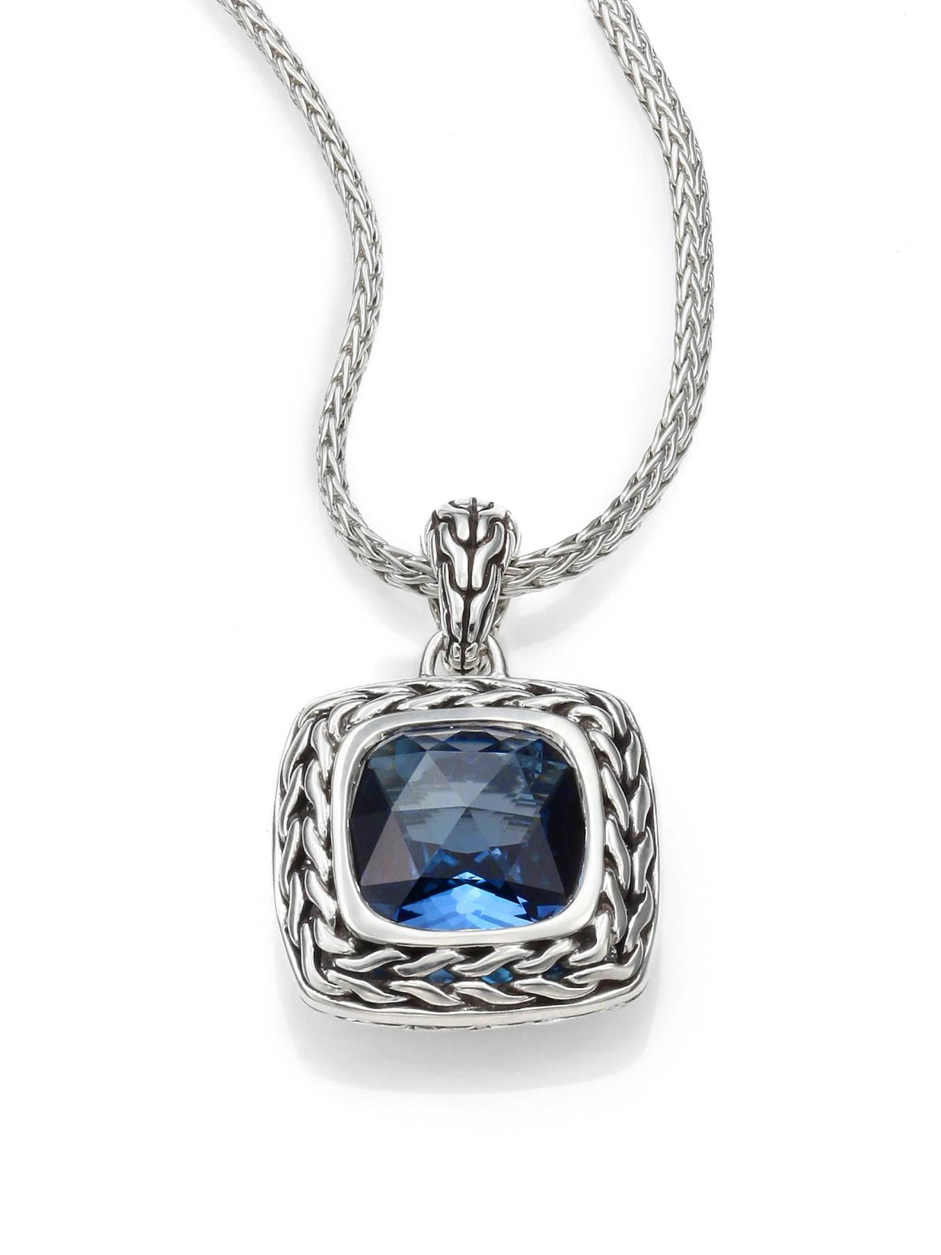 John Hardy Classic Chain Sterling Silver Small Square