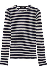 Junya Watanabe Striped Wool Blend Top - Lyst