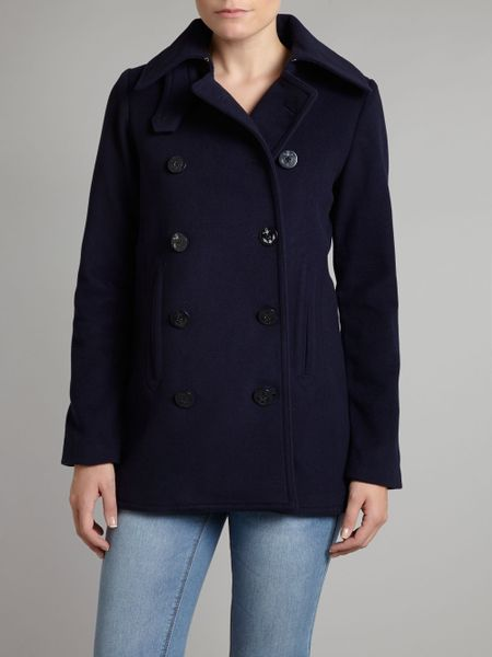 Lauren By Ralph Lauren Pea Coat Double Brested Coat In