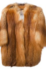 Liska Fox Fur Coat - Lyst