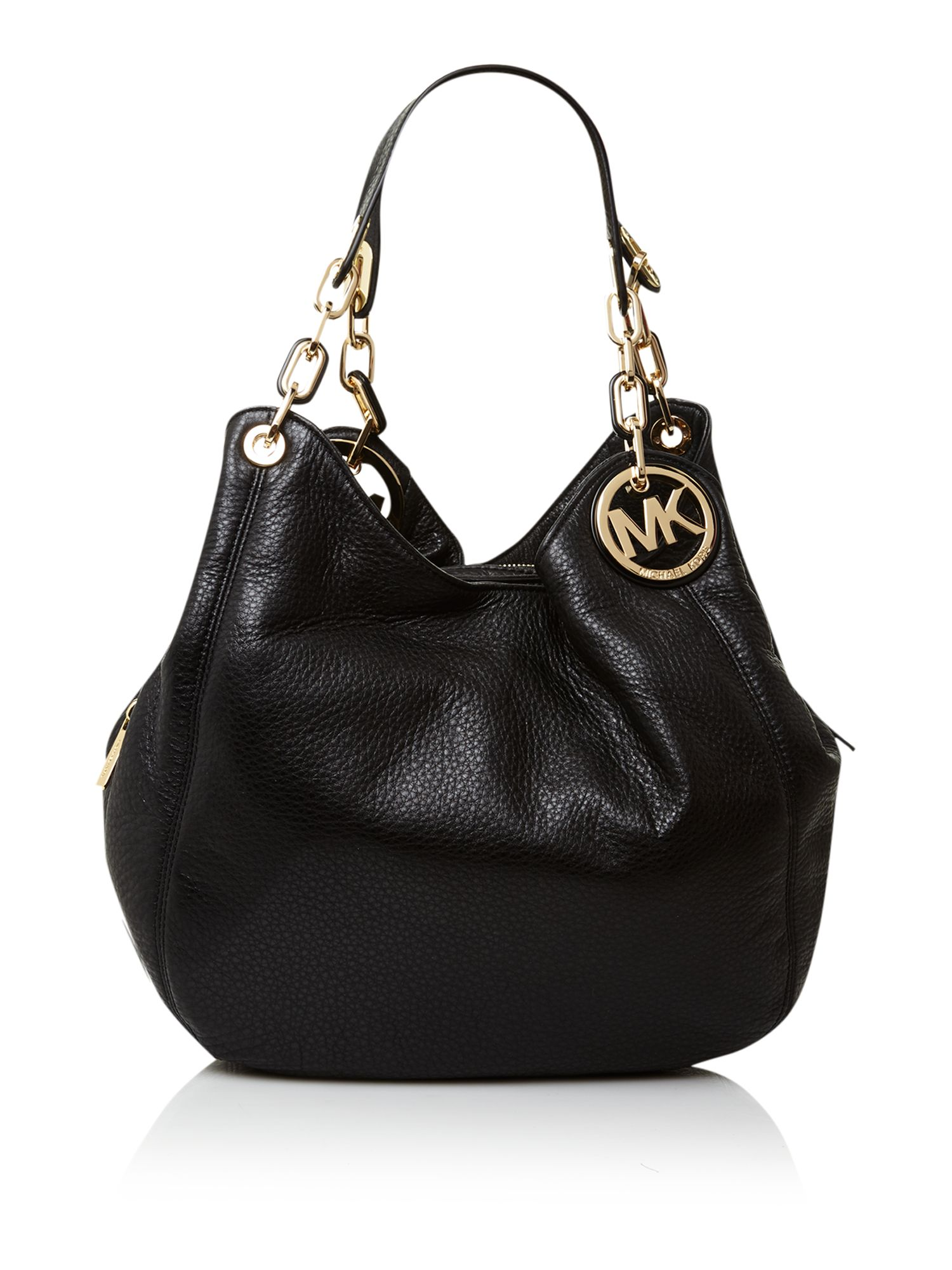 michael michael kors fulton black large hobo bag in black lyst. Black Bedroom Furniture Sets. Home Design Ideas