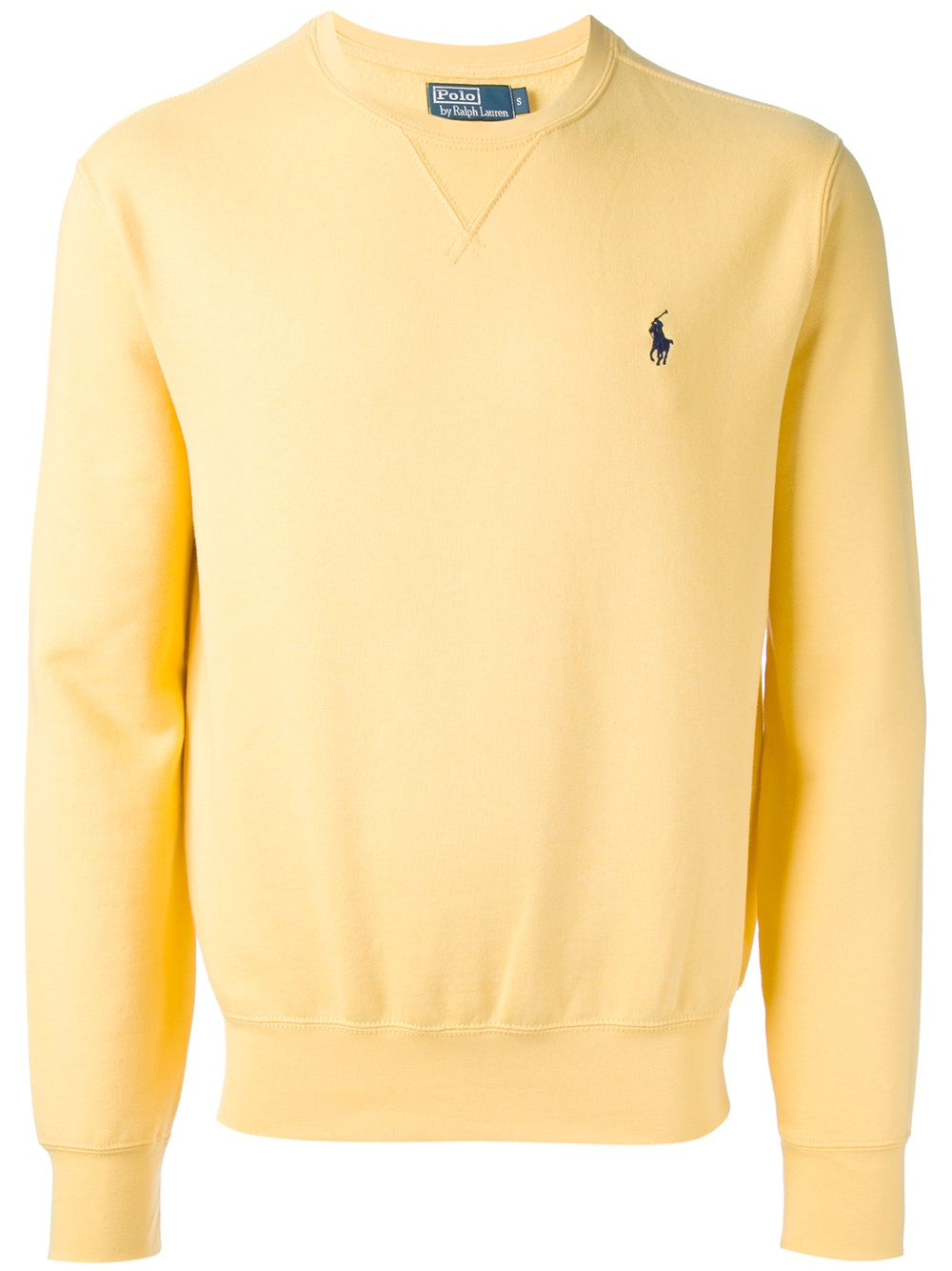 polo ralph lauren crew neck sweatshirt in yellow for men lyst. Black Bedroom Furniture Sets. Home Design Ideas