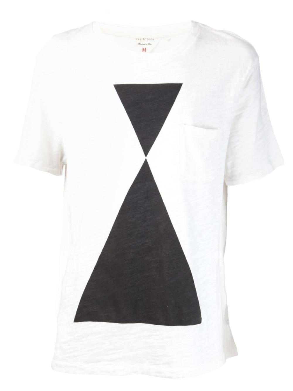 Rag Bone Graphic T Shirt In White For Men Lyst