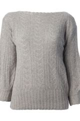 Ralph Lauren Black Label Cable Knit Jumper - Lyst