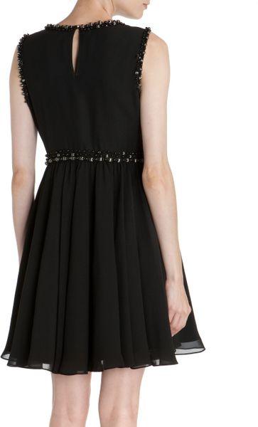 Ted Baker Davini Embellished Bust Dress In Black Lyst