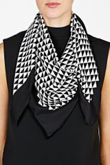 By Malene Birger Black Pinao Scarf in Black - Lyst