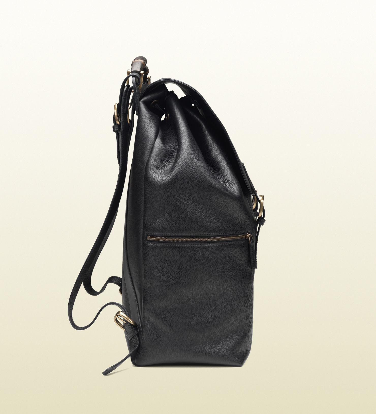 Gucci Black Leather Backpack in Black for Men | Lyst