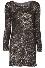 Haute Hippie Sequined Zebra Dress - Lyst