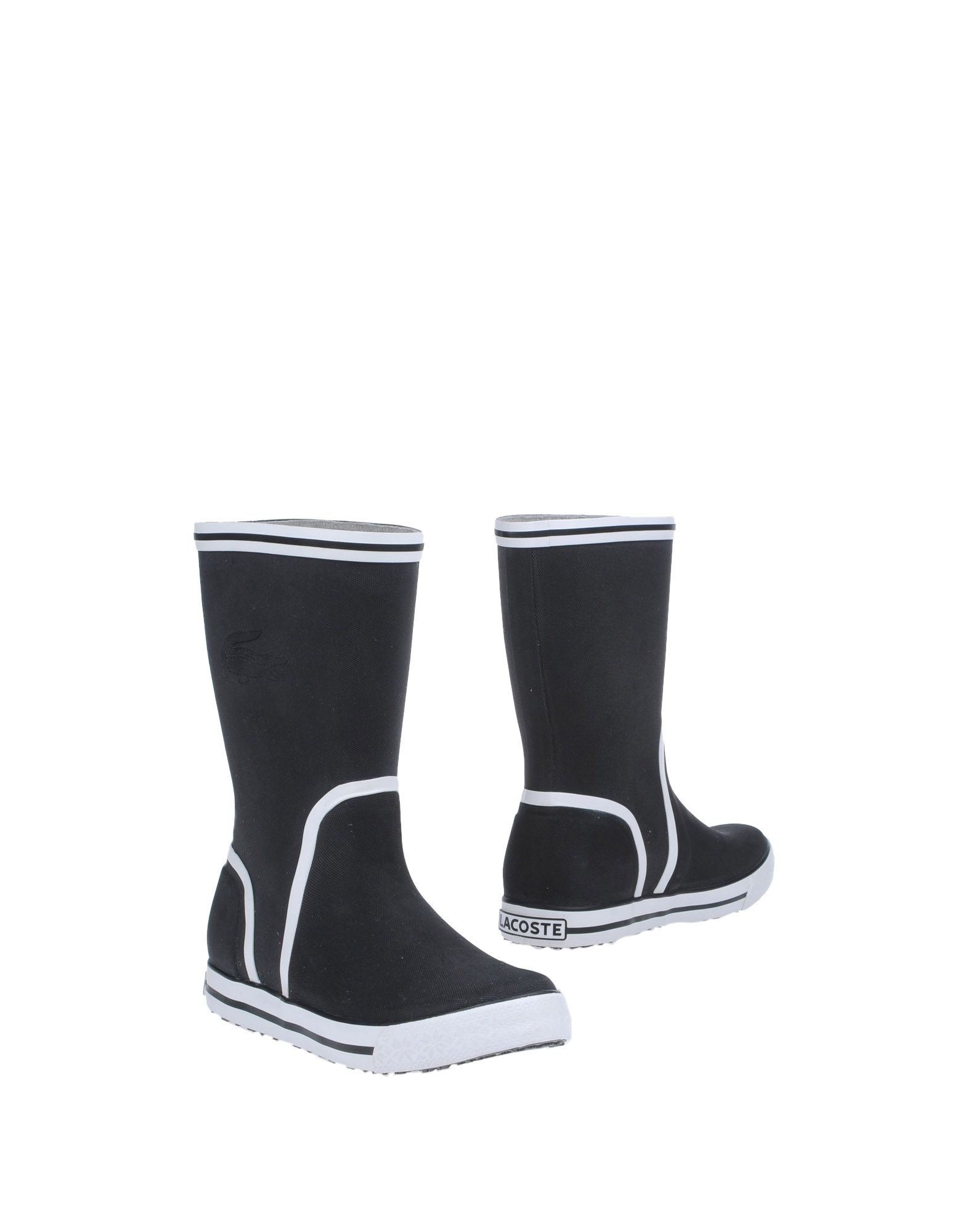 lacoste ankle boots in white black lyst