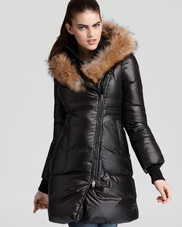 Mackage Liz Fur Trimmed Down Coat In Black Lyst