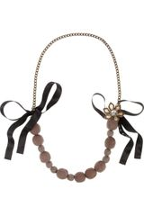 Marni Goldtone Beaded Necklace - Lyst