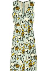 Marni Printed Woolblend Dress - Lyst