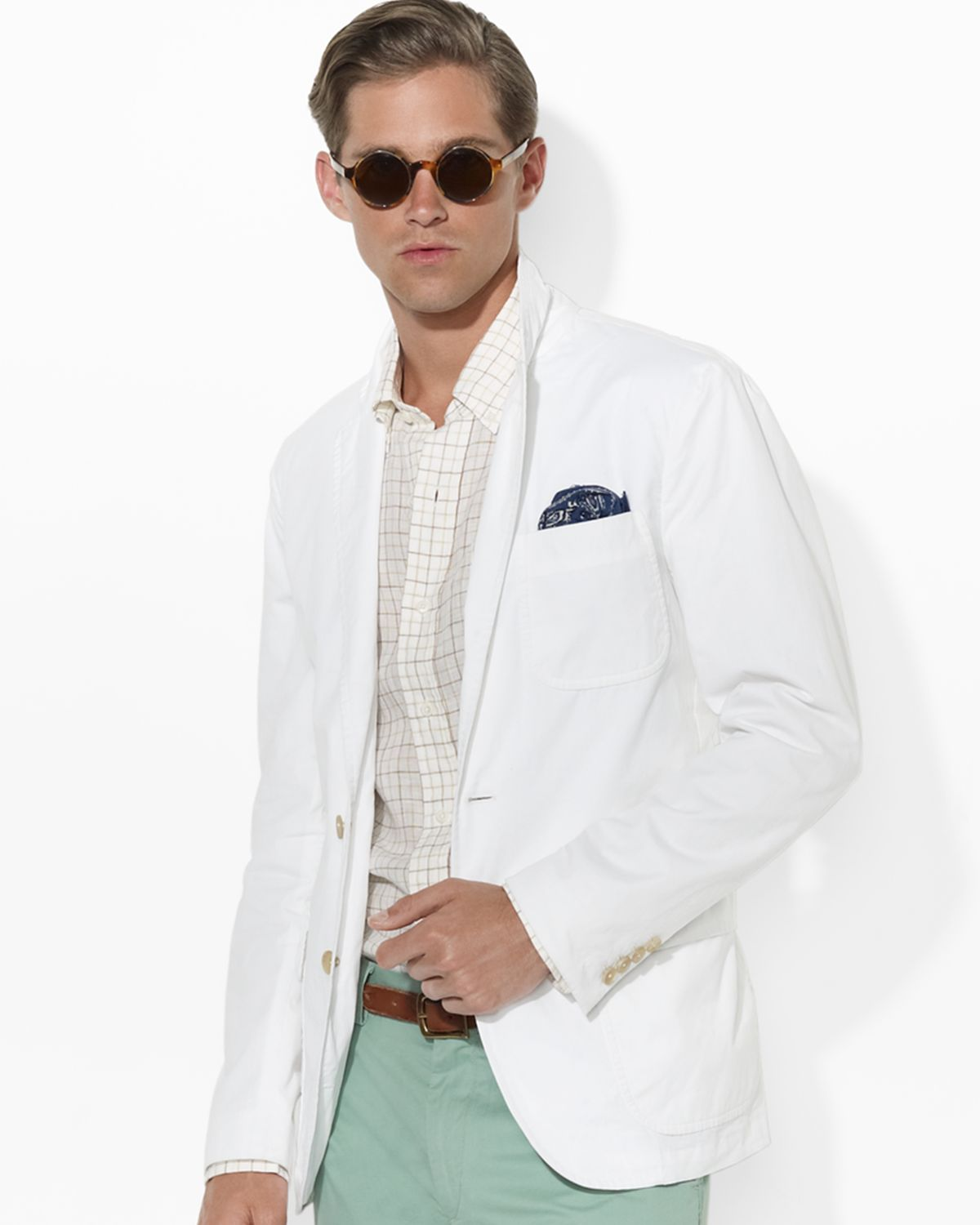 ralph lauren polo langley chino sport coat in white for. Black Bedroom Furniture Sets. Home Design Ideas