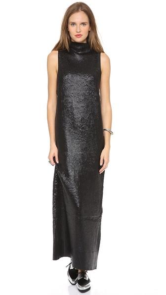 Sass and bide long black dress