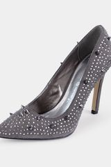 Little Mistress Little Mistress Diamanté Stud Point Court Shoes - Lyst