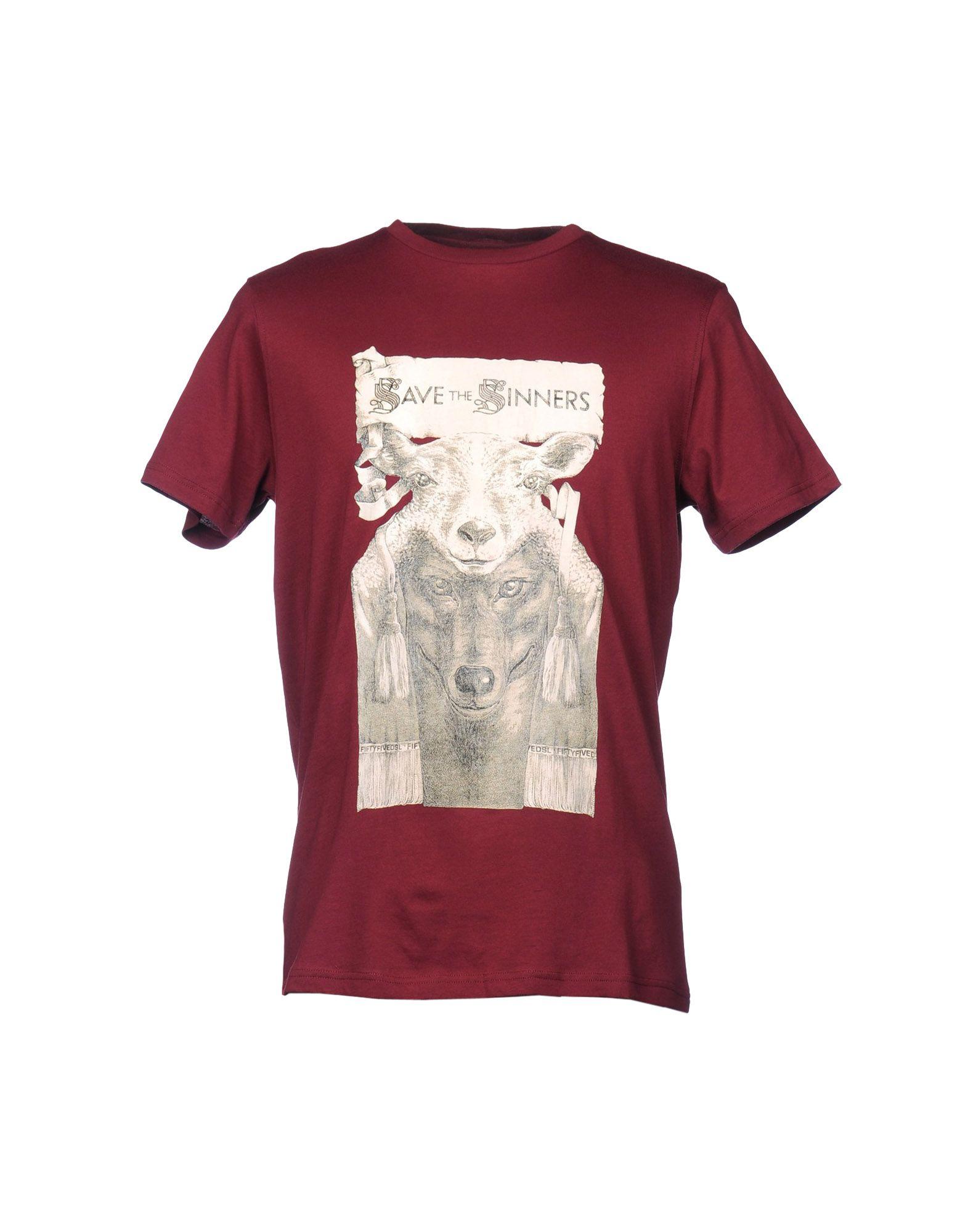55dsl sleeve t shirt in purple for maroon lyst