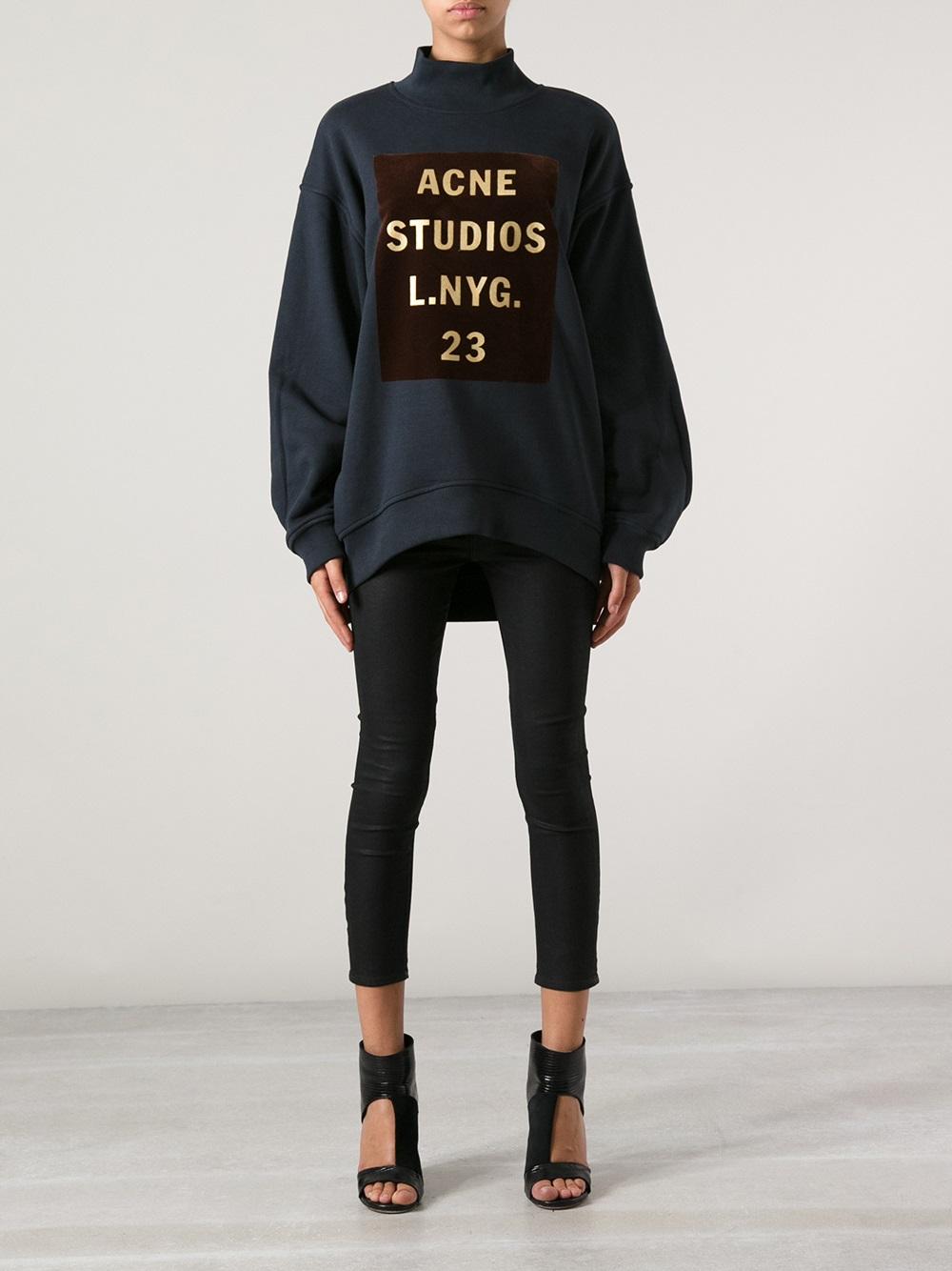 Lyst Acne Studios Beta Sweatshirt In Blue
