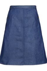 A.P.C. Denim Skirt - Lyst