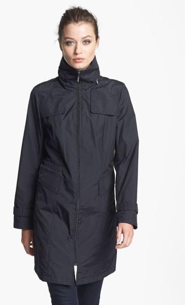 Cole Haan Packable Raincoat In Black Lyst