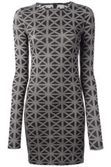 Gareth Pugh Geometric Printed Dress - Lyst
