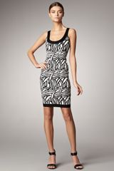 Hervé Léger Printed Scoopneck Bandage Dress - Lyst