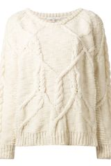 Iro Cable Knit Sweater - Lyst