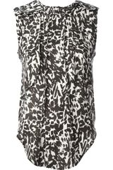 Isabel Marant Moss Sleeveless Blouse - Lyst