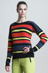 Jason Wu Crochetstriped Pullover - Lyst