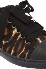 Lanvin Leopard printed Cap Toe Low Top - Lyst