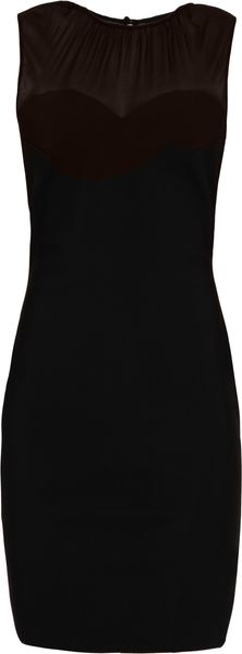 Lulu & Co Mesh Top Bodycon Dress - Lyst