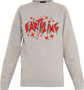 Lulu & Co Earthling Print Sweater - Lyst