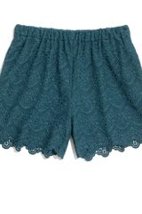Madewell Scallop Lace Shorts - Lyst