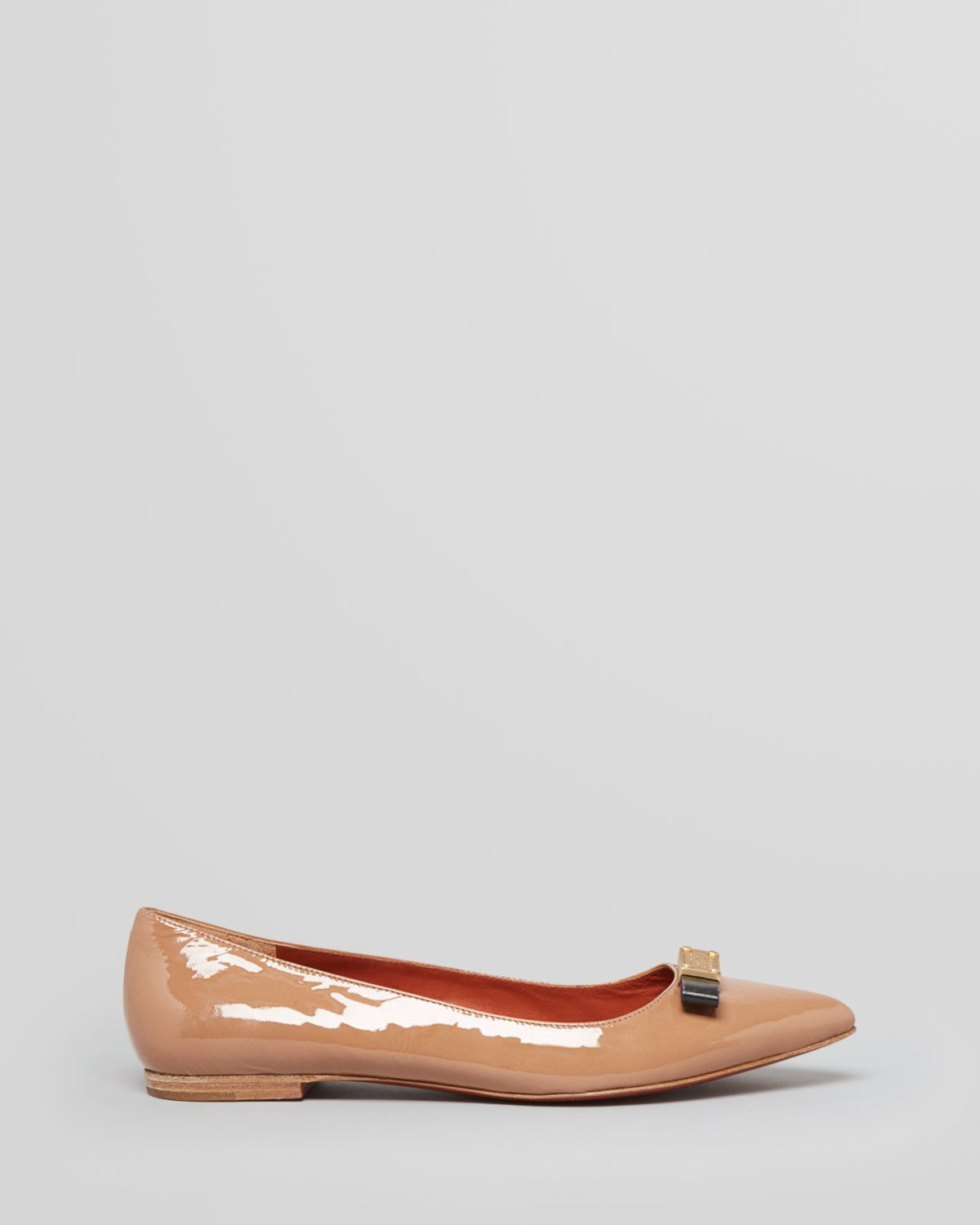 Marc Jacobs Patent Leather Pointed-Toe Flats
