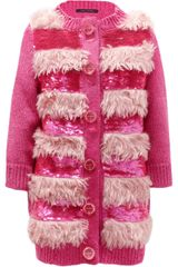 Marc Jacobs Faux Fur and Sequinembellished Cardigan - Lyst