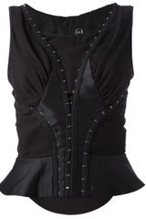 McQ by Alexander McQueen Sleeveless Corset Top - Lyst