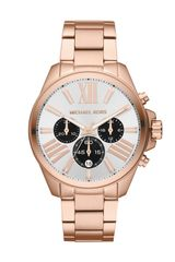 Michael Kors Midsize Rose Golden Stainless Steel Wren Chronograph Watch - Lyst