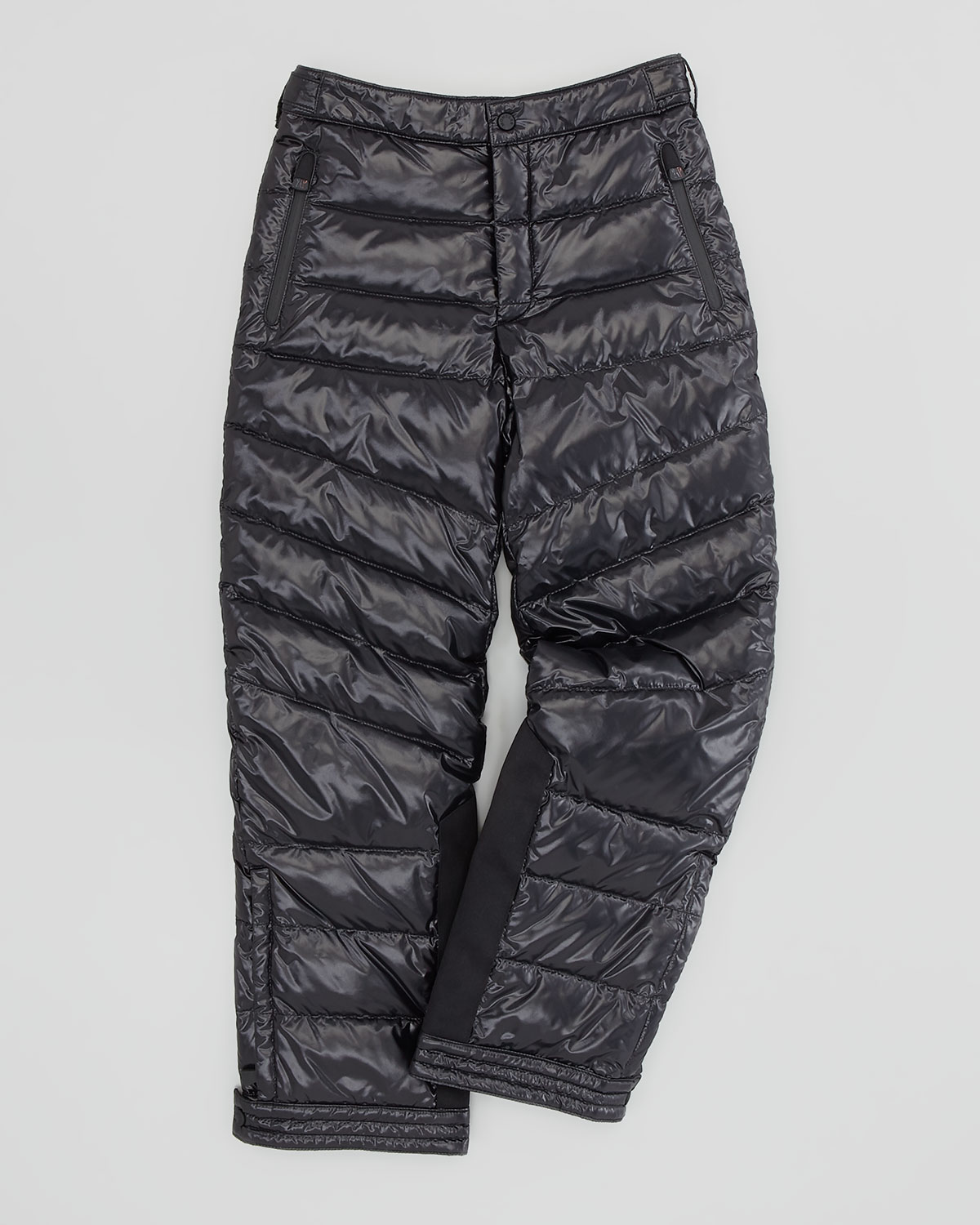 Lyst Moncler Quilted Nylon Ski Pants Black Sizes 26 In Black