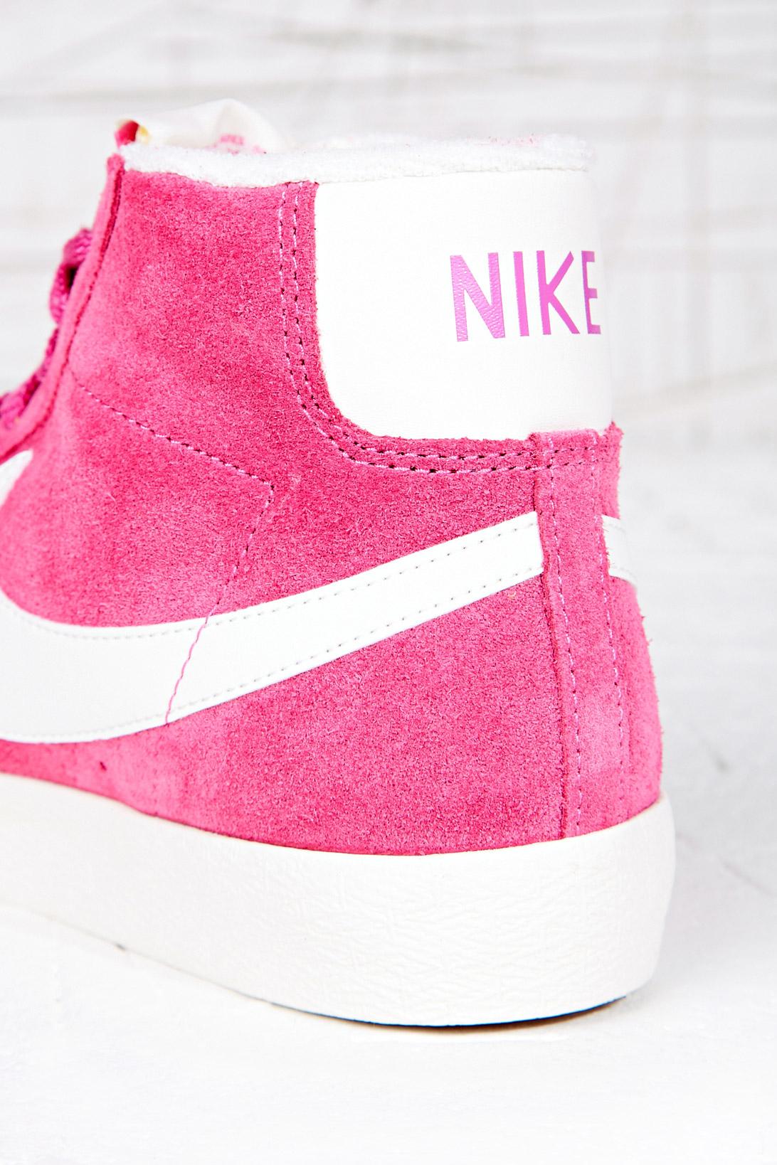 Chaud Chaussures Nike Blazer Rose Haut Tops