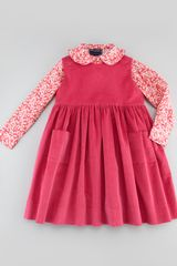 Oscar de la Renta Girls Corduroy Pinafore Dress Hot Pink 4y6y - Lyst