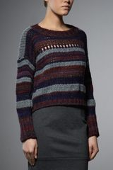 Patrizia Pepe Sweater in Wool and Mohair Yarn Fantasy - Lyst