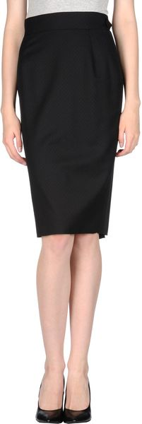 Paul Smith Blue Knee Length Skirt - Lyst
