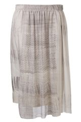 Raquel Allegra Snakeskin and Dotted Print Skirt - Lyst