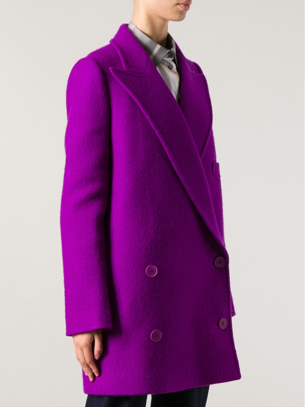 lyst stella mccartney oversize coat in purple