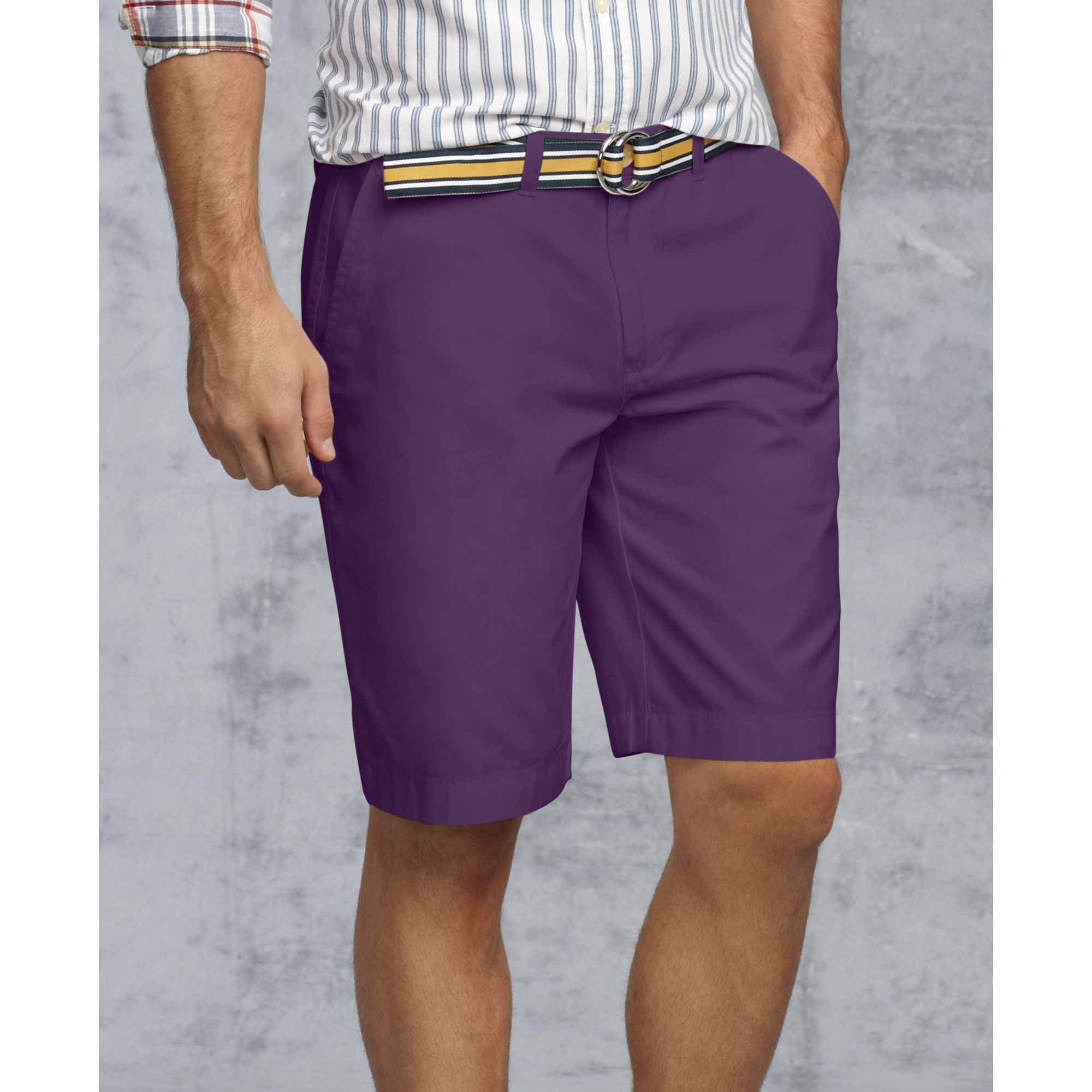 Tommy hilfiger Academy Chino Shorts in Purple for Men | Lyst