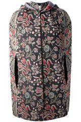 Valentino Floral Embroidered Coat - Lyst
