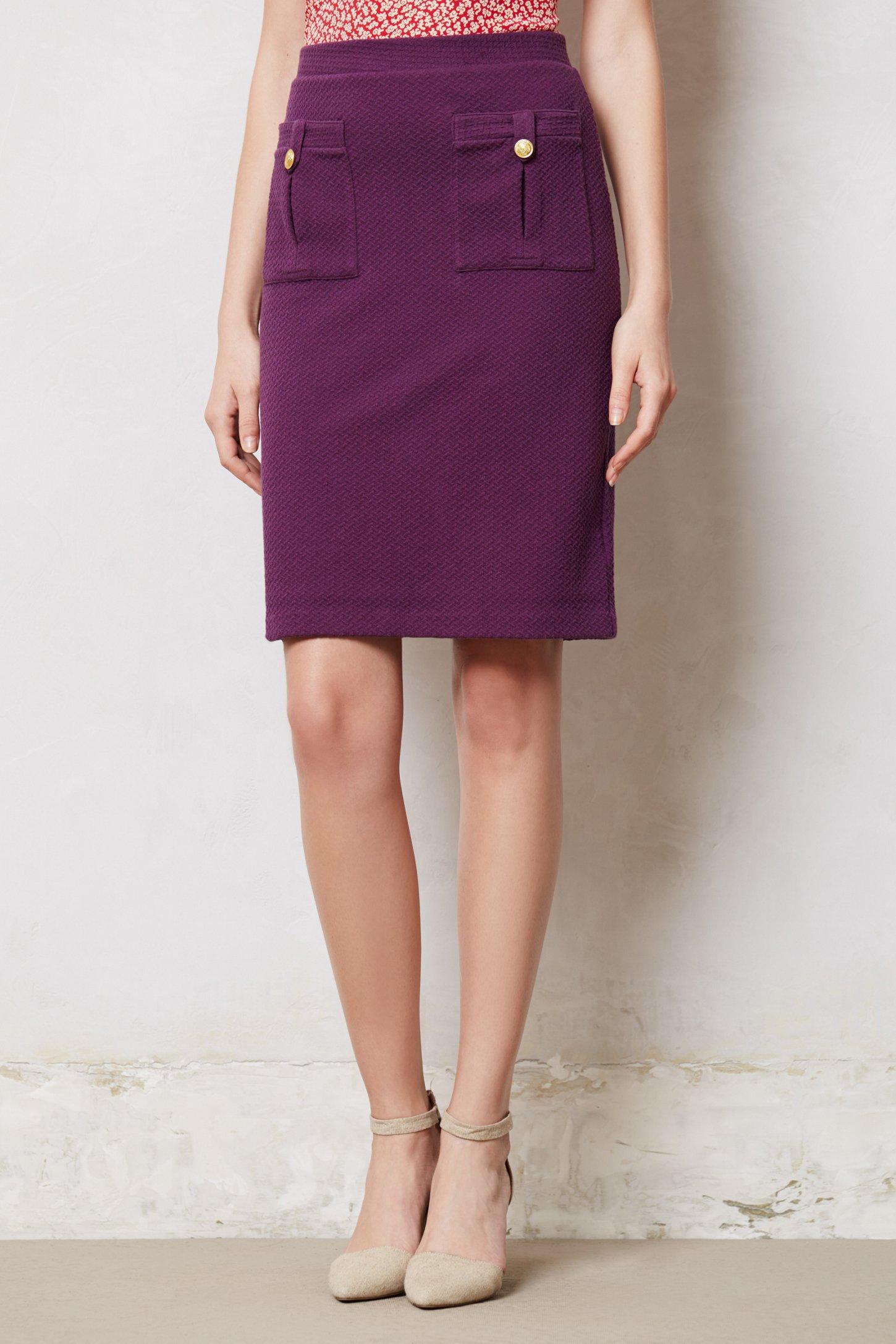 Vanessa virginia Bonny Pencil Skirt in Purple | Lyst