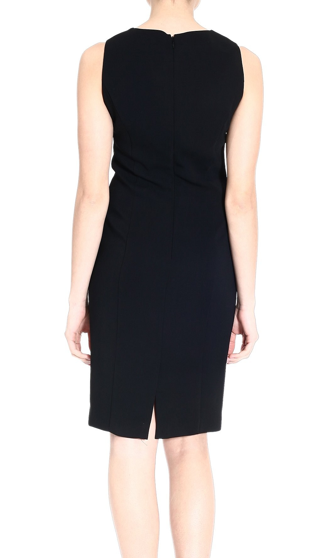 versace embroidered eyelet detail dress in black lyst