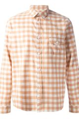 A.P.C. Check Shirt - Lyst